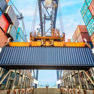 cargo-container-at-dock-being-moved