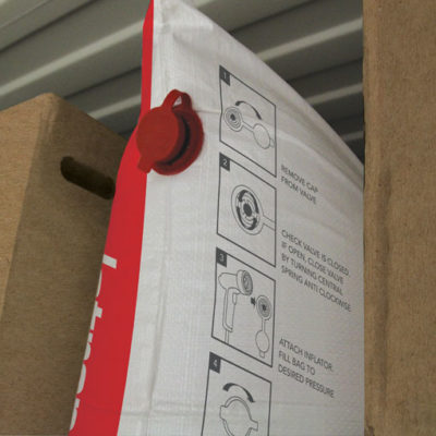 cordstrap-dunnage-bag-in-a-container-filling-space-between-boxes